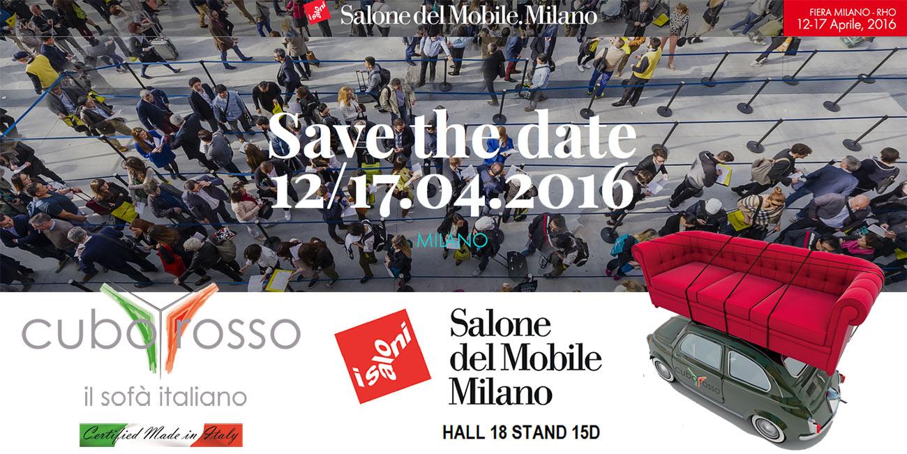 Cuborosso al salone del mobile 2016 cuborosso divani - Elenco espositori salone del mobile 2016 ...